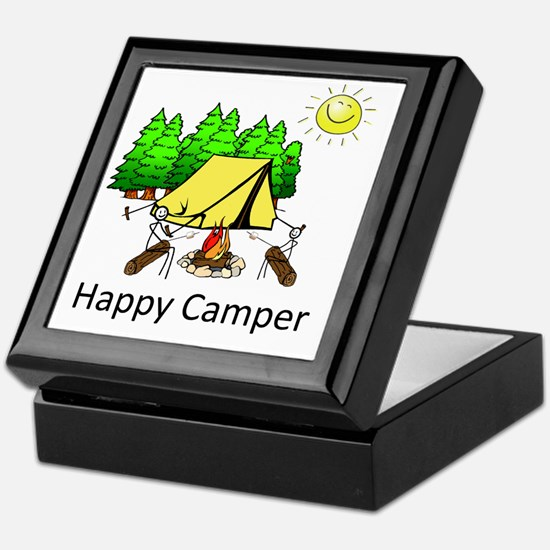 Unique Happy camper t Keepsake Box