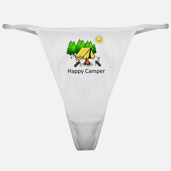 Funny Happy camper Classic Thong