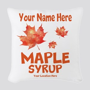 Your Maple Syrup Woven Throw Pillow