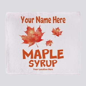 Your Maple Syrup Throw Blanket