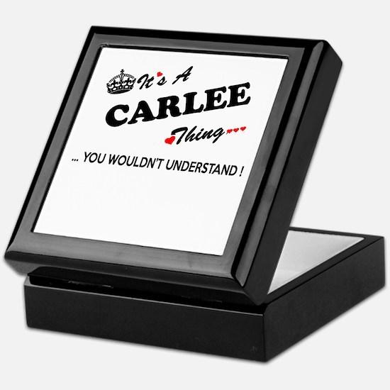 CARLEE thing, you wouldn't understand Keepsake Box