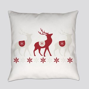 Winter Reindeer Everyday Pillow