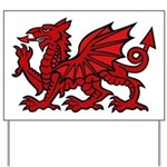 Red Welsh Dragon Yard Sign