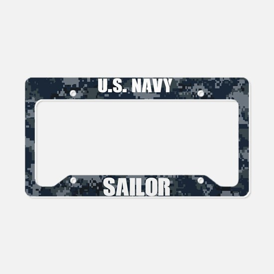 U.S. Navy Sailor Camo License Plate Holder
