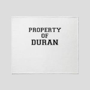Property of DURAN Throw Blanket