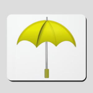 Yellow Umbrella Mousepad