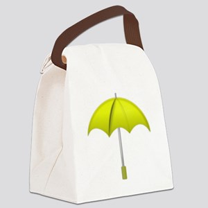 Yellow Umbrella Canvas Lunch Bag