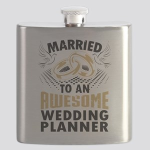 Married To An Awesome Wedding Planner Flask