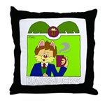 Barsnucks Coffee - That's the ticket! Throw Pillow