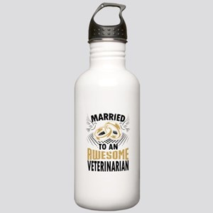 Married To An Awesome Veterinarian Water Bottle