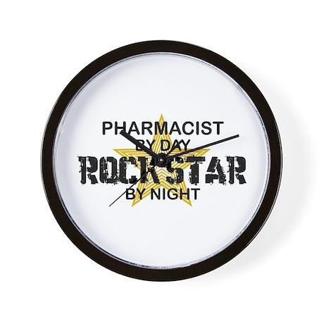 Pharmacist RockStar by Night Wall Clock