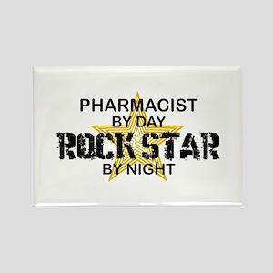 Pharmacist RockStar by Night Rectangle Magnet