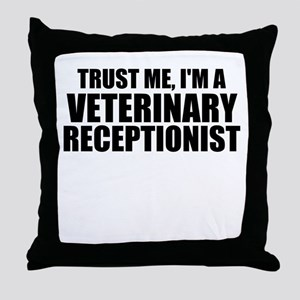 Trust Me, I'm A Veterinary Receptionist Throw Pill