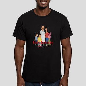 Bob's Burgers 8Bit Men's Fitted T-Shirt (dark)