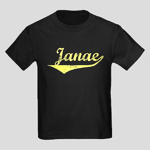 Janae Vintage (Gold) Kids Dark T-Shirt