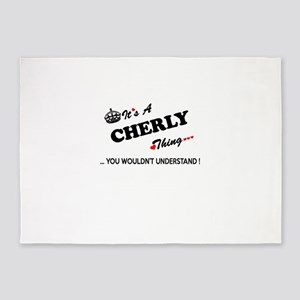 CHERLY thing, you wouldn't understa 5'x7'Area Rug