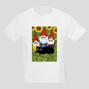 Garden Gnomes & Black Cat Kids Light T-Shirt