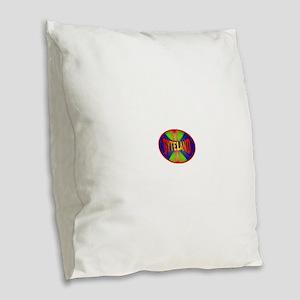 Byteland Ellipse Burlap Throw Pillow