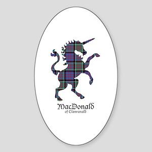 Unicorn-MacDonaldClanranald Sticker (Oval)