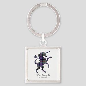 Unicorn-MacDonaldClanranald Square Keychain