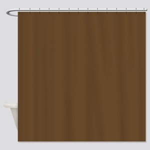 Sturdy Brown Shower Curtain