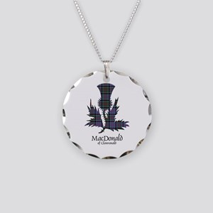 Thistle-MacDonald of Clanran Necklace Circle Charm