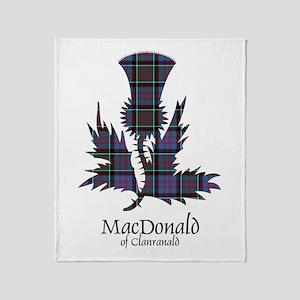 Thistle-MacDonald of Clanranald Throw Blanket