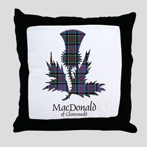 Thistle-MacDonald of Clanranald Throw Pillow