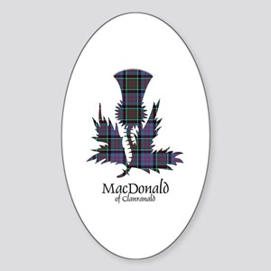 Thistle-MacDonald of Clanranald Sticker (Oval)
