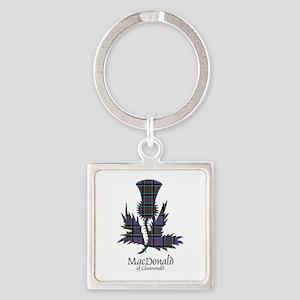 Thistle-MacDonald of Clanranald Square Keychain