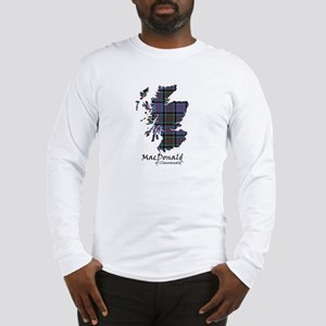 Map-MacDonald of Clanranald Long Sleeve T-Shirt