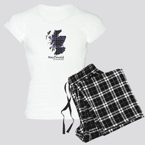 Map-MacDonald of Clanranald Women's Light Pajamas