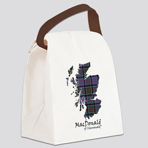 Map-MacDonald of Clanranald Canvas Lunch Bag