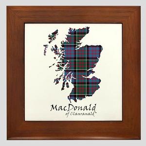 Map-MacDonald of Clanranald Framed Tile