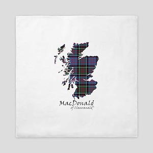 Map-MacDonald of Clanranald Queen Duvet