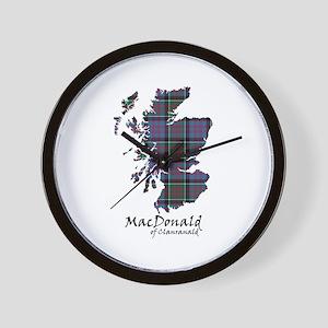 Map-MacDonald of Clanranald Wall Clock