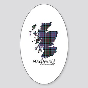 Map-MacDonald of Clanranald Sticker (Oval)