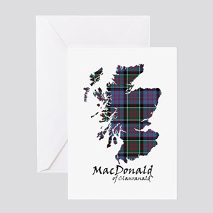 Map-MacDonald of Clanranald Greeting Card