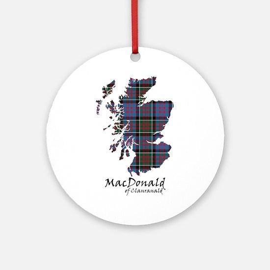 Map-MacDonald of Clanranald Ornament (Round)