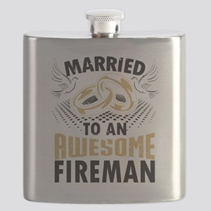 Married To An Awesome Fireman Flask
