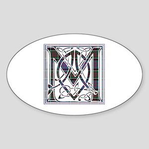 Monogram-MacDonald of Clanranald Sticker (Oval)