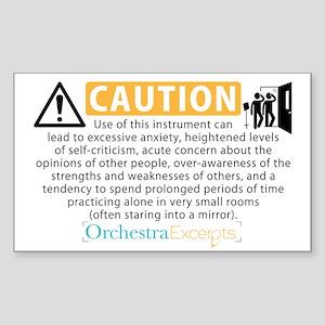 Musical Instrument Warning Label (sticker)