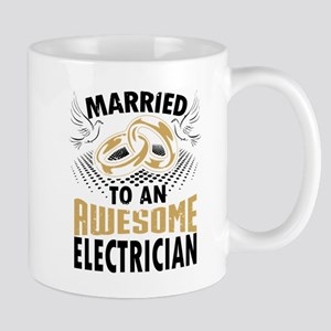 Married To An Awesome Electrician Mugs