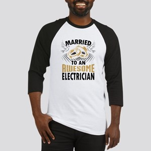 Married To An Awesome Electrician Baseball Jersey