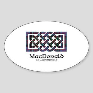 Knot-MacDonald of Clanranald Sticker (Oval)