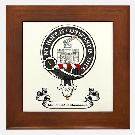 Badge-MacDonald of Clanranald Framed Tile