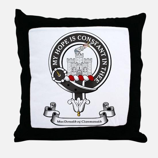 Badge-MacDonald of Clanranald Throw Pillow