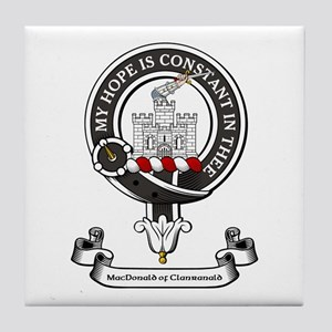 Badge-MacDonald of Clanranald Tile Coaster