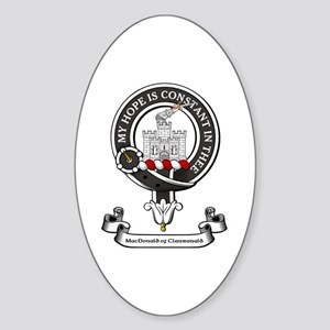 Badge-MacDonald of Clanranald Sticker (Oval)