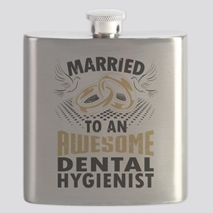 Married To An Awesome Dental Hygienist Flask